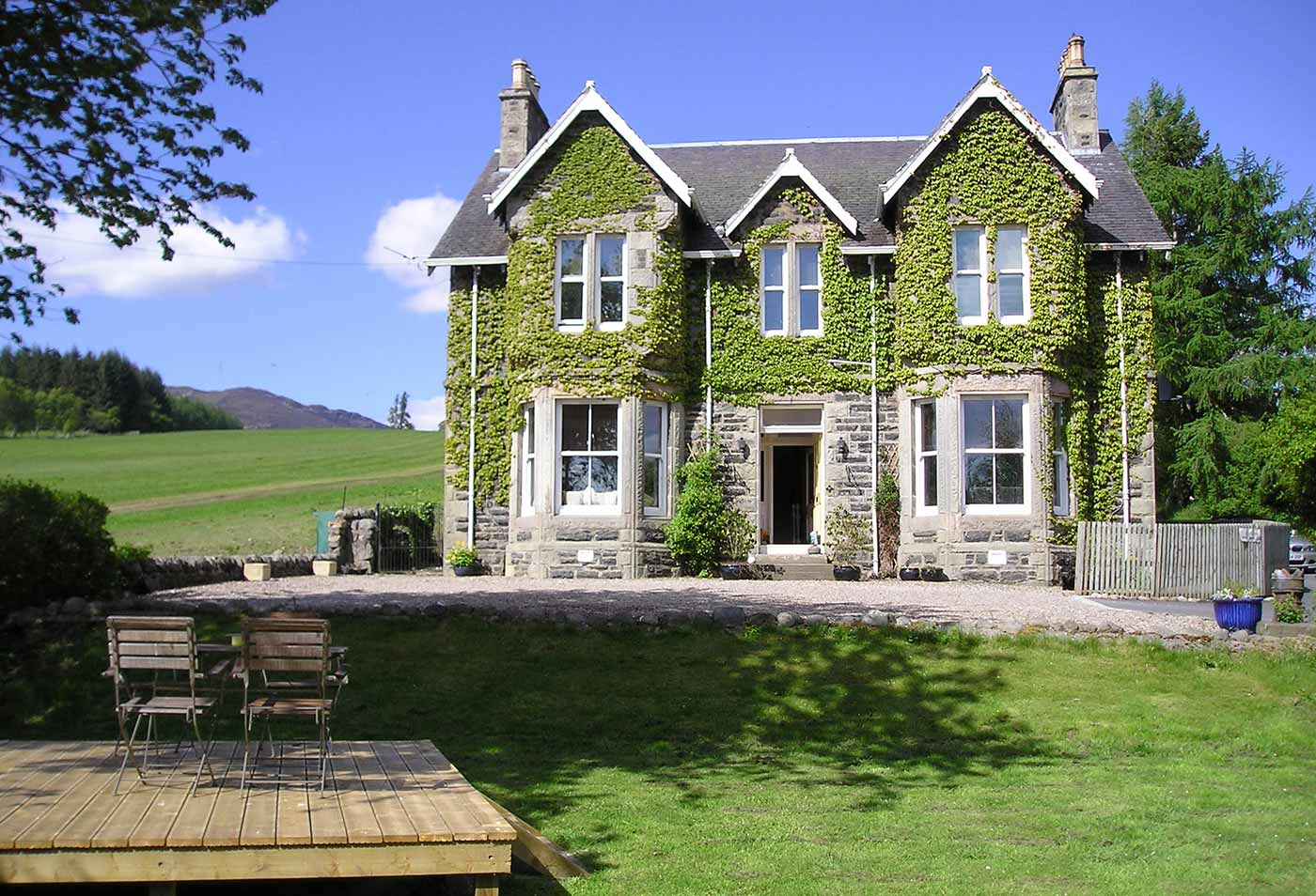 Kinnaird House large self catering accommodation in Pitlochry
